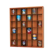 Jumbl Wood Shot Glass Wall Curio Display case - Black