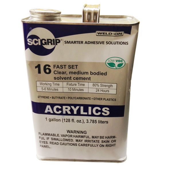 Weld-On 16 Acrylic Cement - Gallon