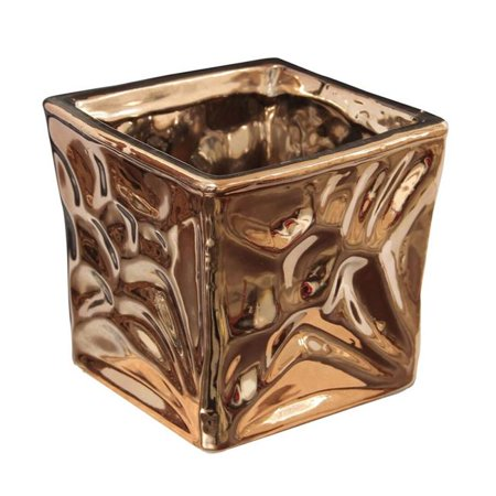 Cheungs 4755S Ceramic Electroplate Copper Planter