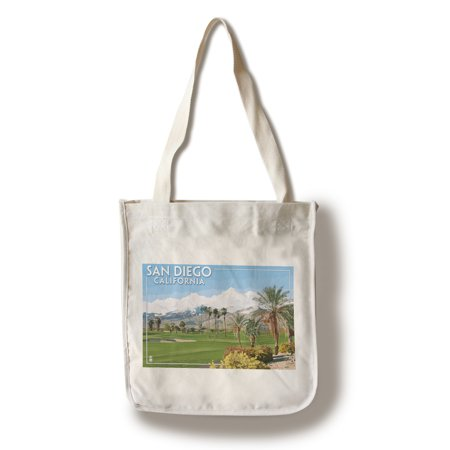 San Diego, California - Golf Course Scene - Lantern Press Poster (100% Cotton Tote Bag - Reusable) - California Tote Bag