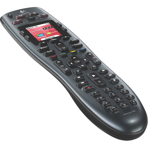 Logitech 915-000162 Harmony 700 Rechargeable Remote with Color Screen (Black)...