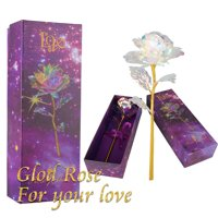 Gold Plated Rose 24K Dipped Flower Valentine's Day Love Gift w/Box For Her Decor
