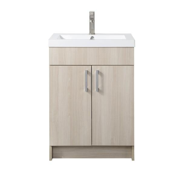 Mainstays Farmhouse 24 4 Inch White Woodgrain Single Sink Bathroom Vanity With Top Assembly Required Walmart Com Walmart Com
