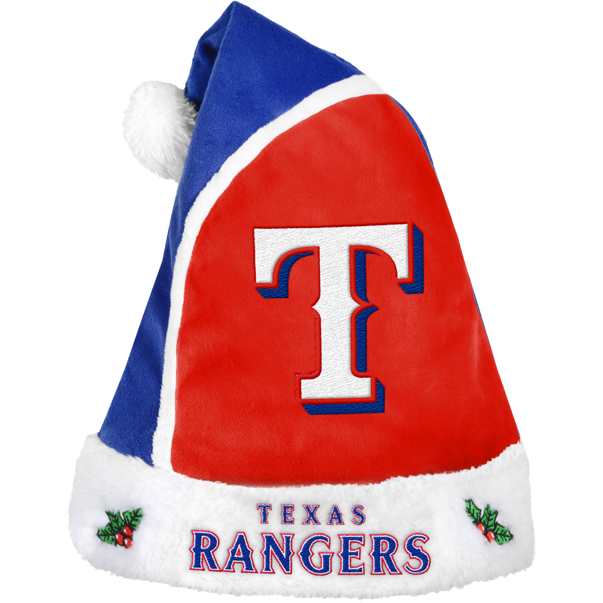 Forever Collectibles MLB 2015 Santa Hat, Texas Rangers