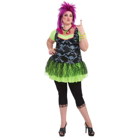 Plus Size Punk Lady 80s Adult Costume - Size 16-22