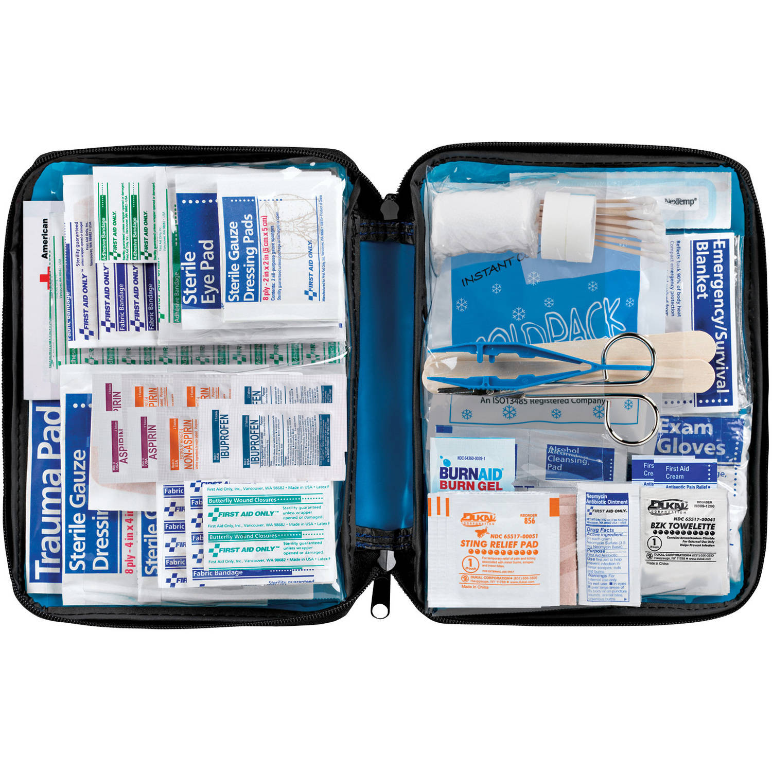 First Aid Only First Aid Essentials Kit, Fabric Case, 299 Pc