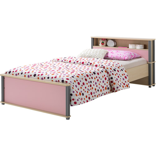Techni Mobili Twin Bed, Natural/Pink, Box 1 of 2