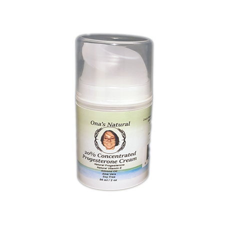 Progesterone Cream Pump (Ona's Natural 20% Concentrated Progesterone Cream, 2 oz Pump )