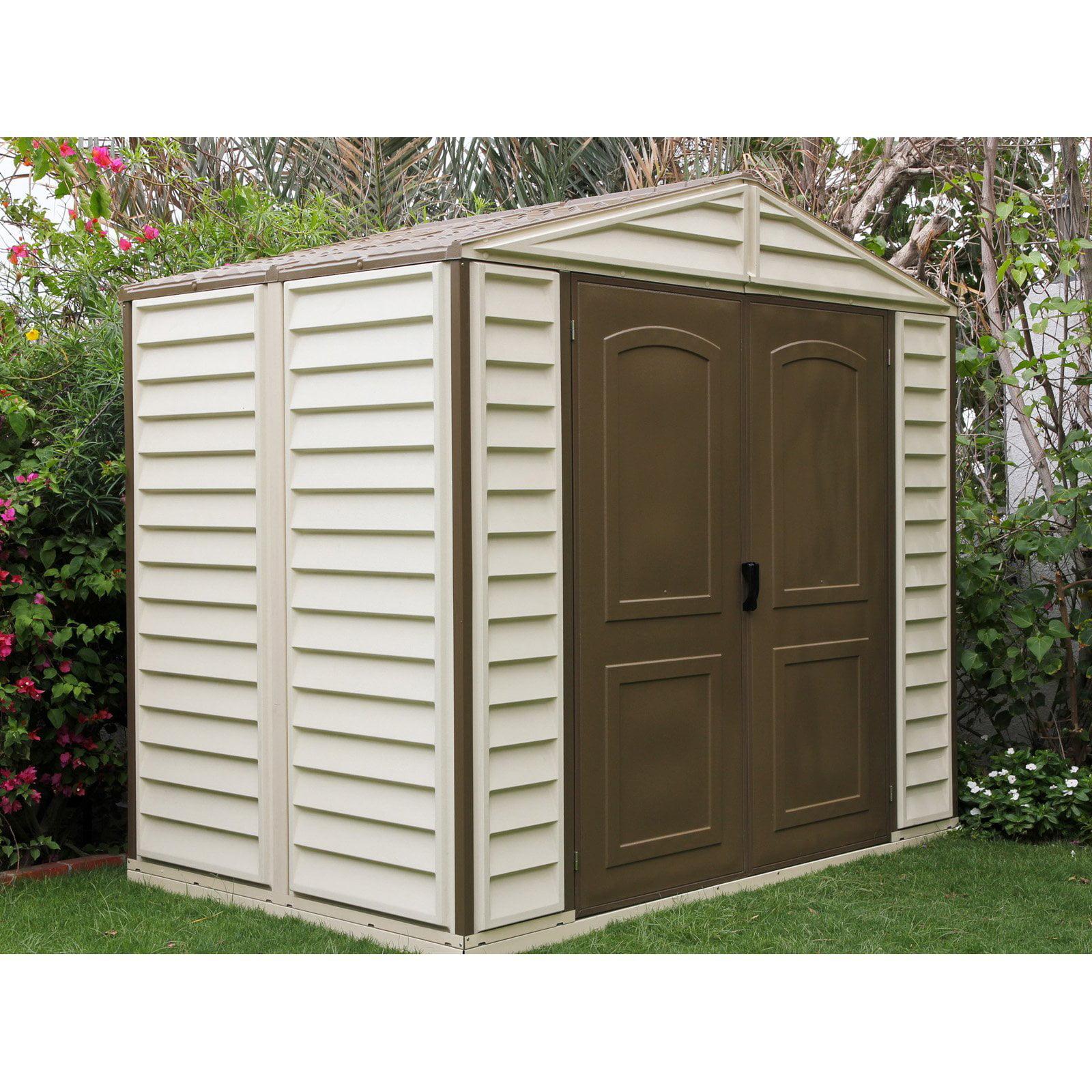 duramax woodside vinyl shed 8 x 6 ft walmartcom - Garden Sheds Vinyl