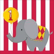Creative Converting Circus Time! Happy 1st Birthday Napkins