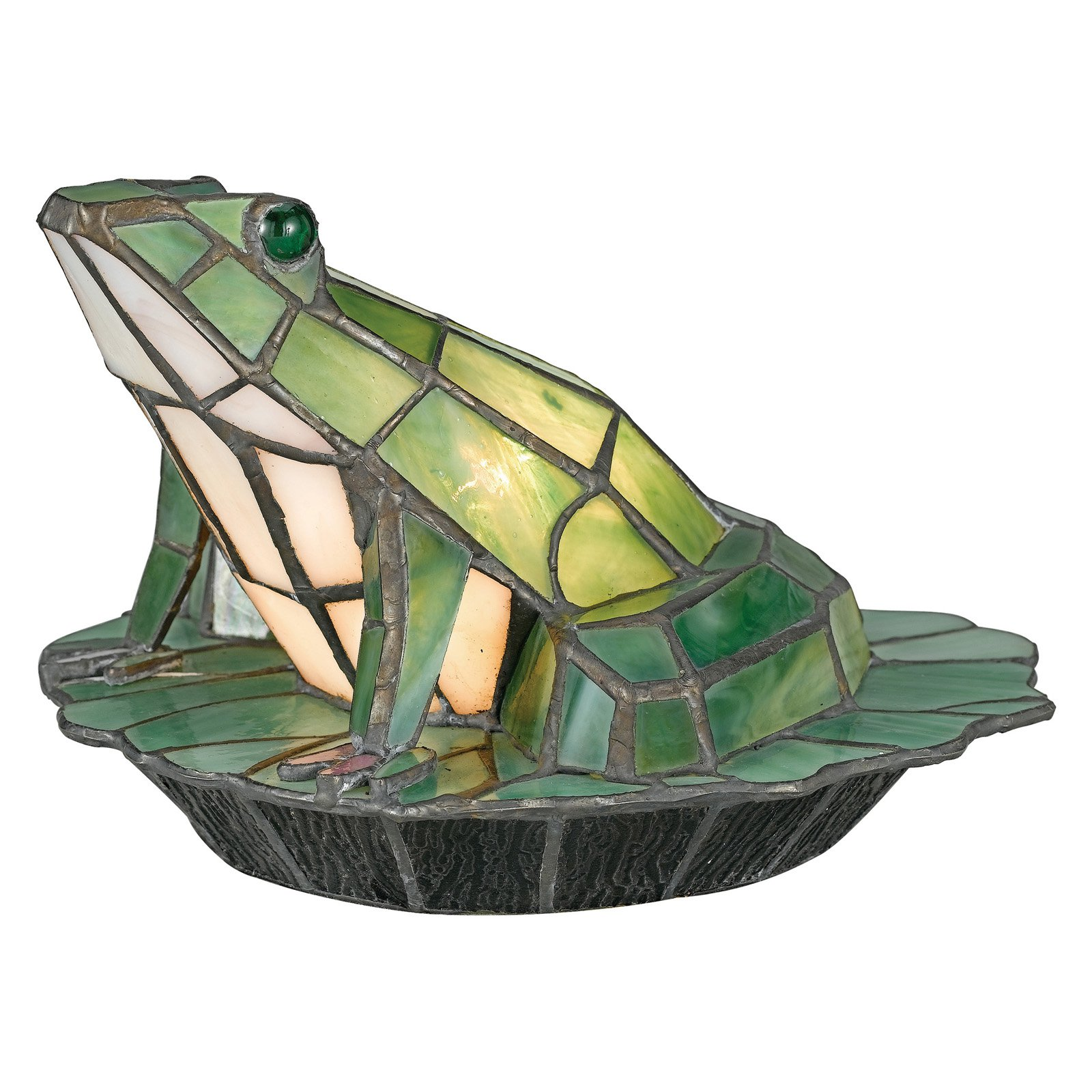 Quoizel Tiffany Green Frog TFX837Y Table Lamp