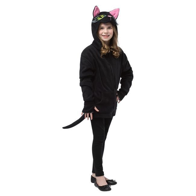 Black Cat Hoodie Teen Halloween Costume - Walmart.com ...