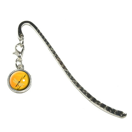 Dragon Knot Bookmark (Dragonfly - Dragon Fly Yellow Metal Bookmark with)