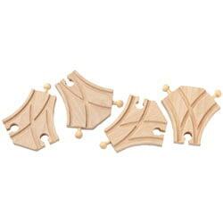 Maxim - Short Curved Switch Track L/R Bulk (12 pieces)