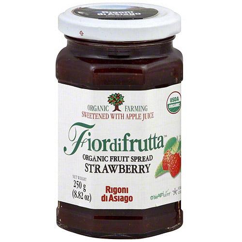 Fiordifrutta Organic Strawberry Fruit Spread, 8.82 oz (Pack of 6)