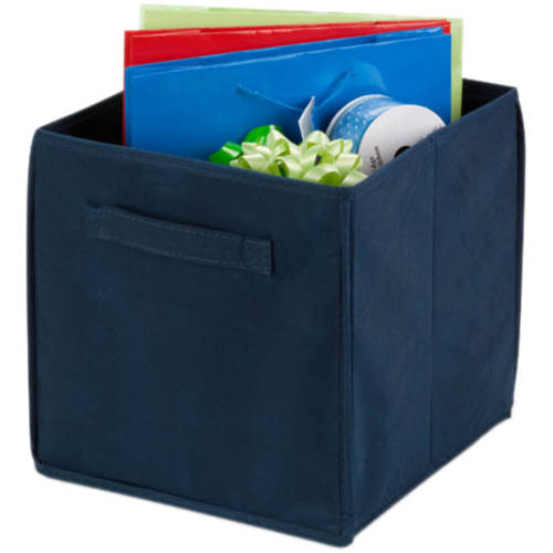Honey Can Do Non-Woven Foldable Storage Cube, Navy (Pack of 4)
