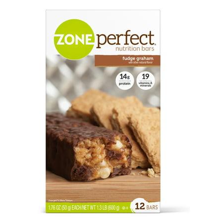 ZonePerfect Nutrition Snack Bar, Fudge Graham, 14g Protein, 12 Ct
