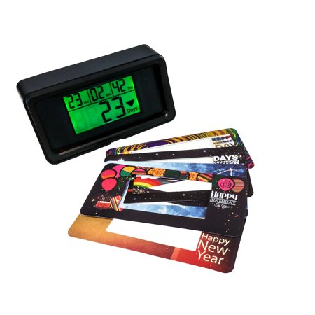 Digital Large LCD Display Days Countdown Clock Green Backlit  Kitchen Timer Events