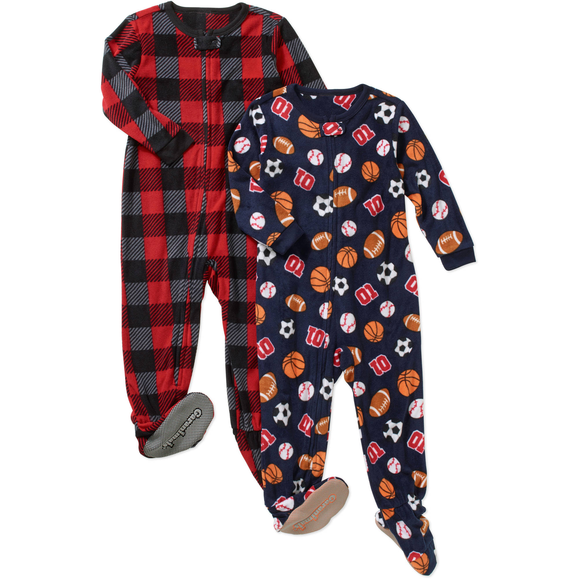 Garanimals Baby Toddler Boy Microfleece Blanket Sleepers, 2-Pack