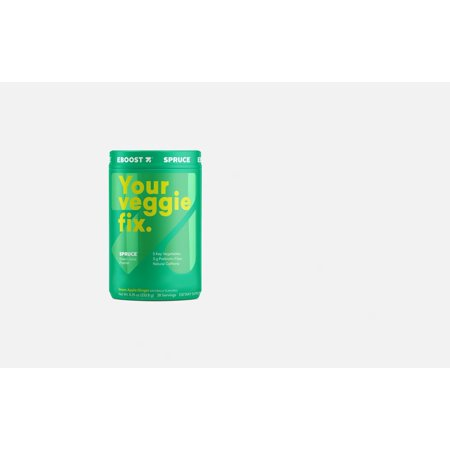 Eboost Naturally Flavored Green Apple Ginger Spruce Green Juice Powder 28 servings