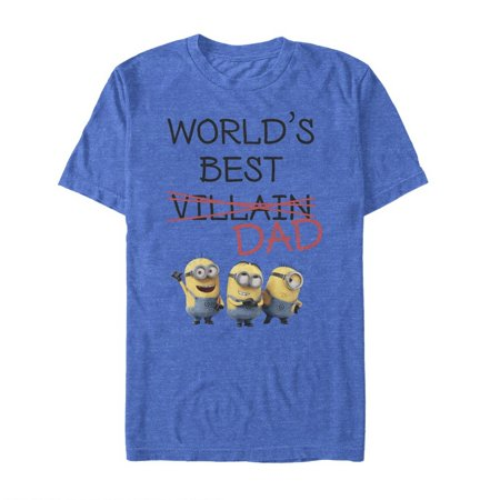 Despicable Me Men's Minions World's Best Villain Dad T-Shirt - One In A Minion Shirt