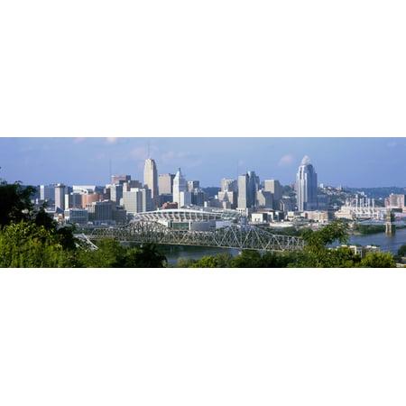 Skyscrapers in a city Cincinnati Ohio USA Poster Print](Party City In Ohio)