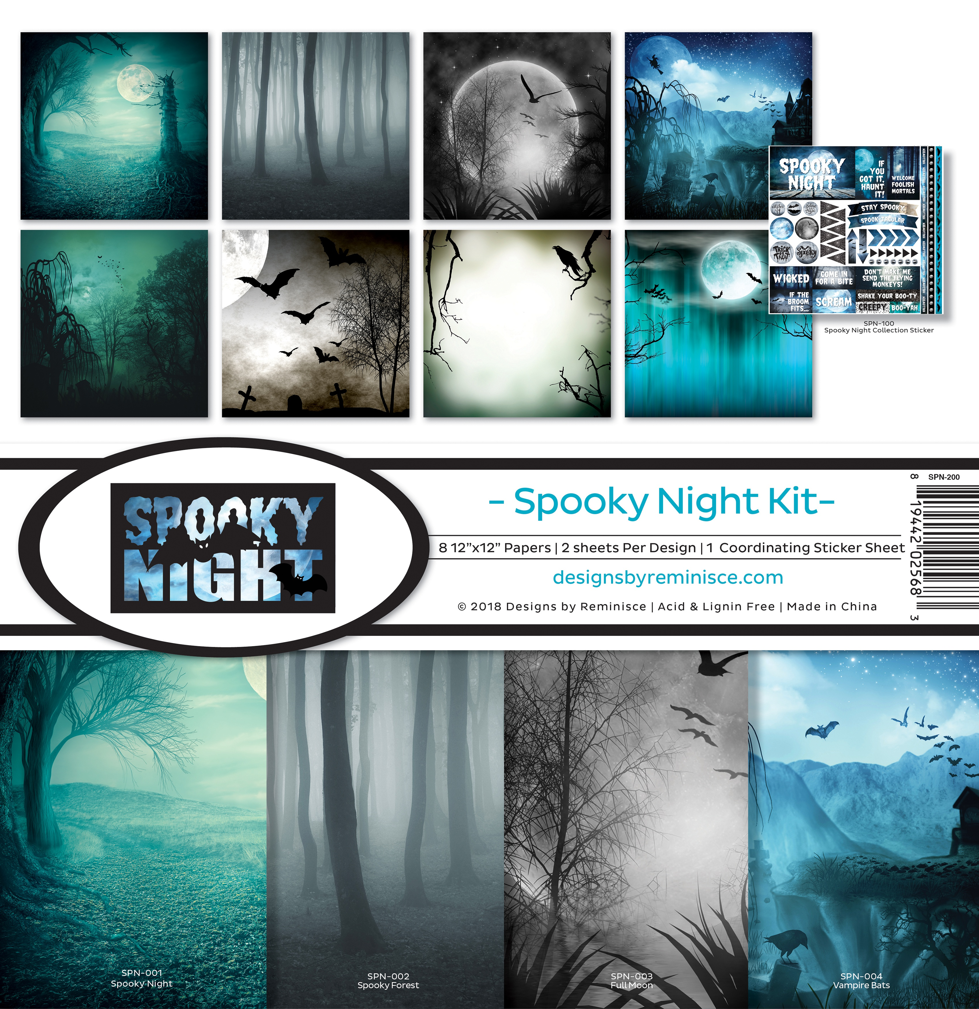 "Reminisce Collection Kit 12""X12""-Spooky Night"