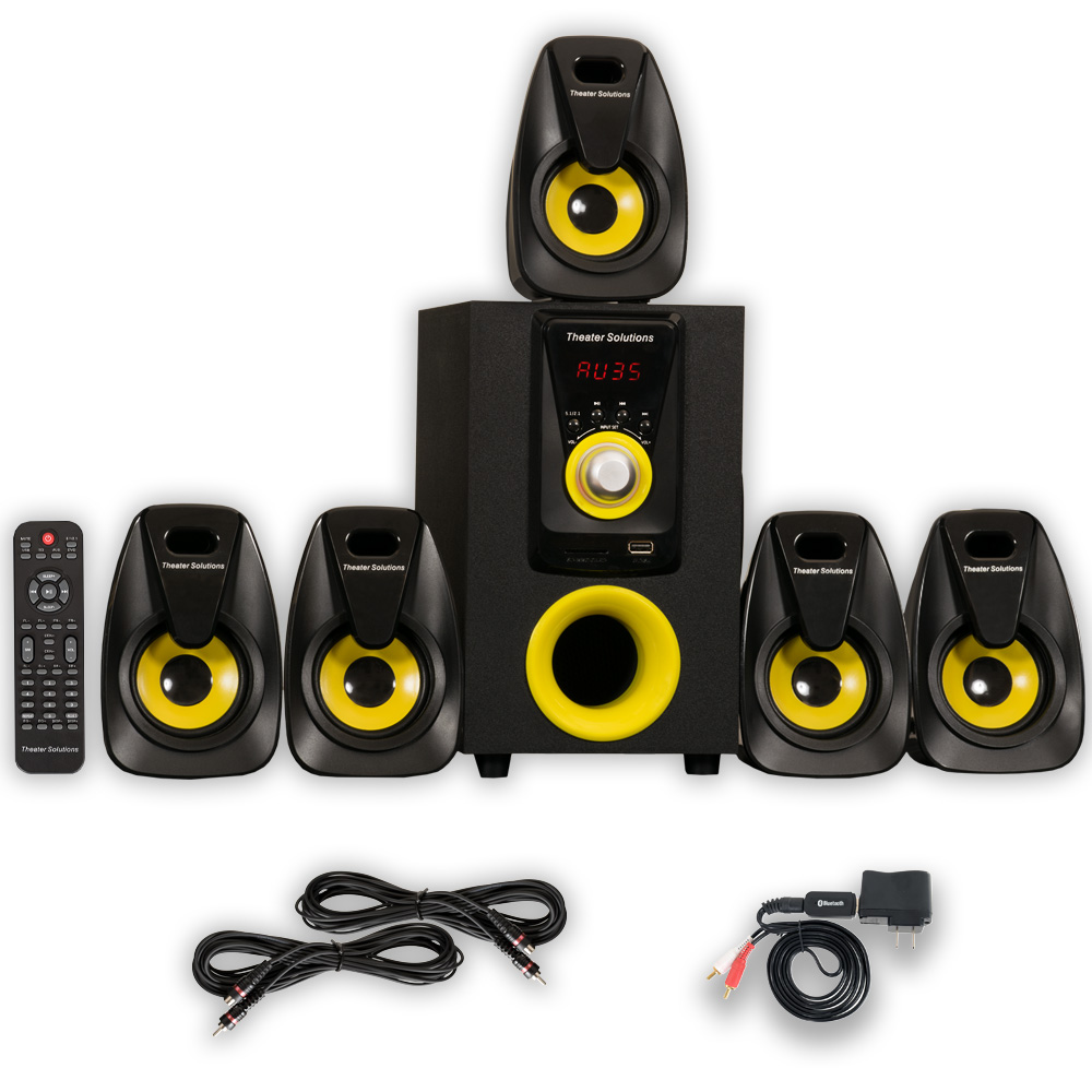 Theater Solutions TS522 Home 5.1 Speaker System with Bluetooth and 2 Extension Cables