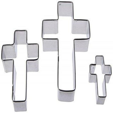 R & M Cross Shaped 3 Piece Cookie Cutter Set