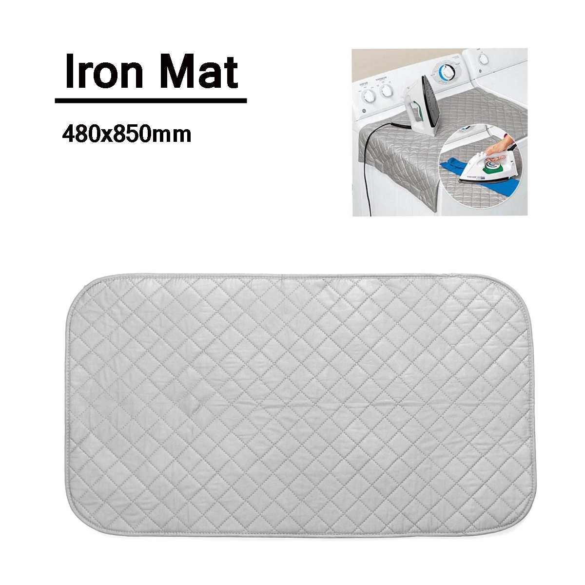 """Portable Compact Ironing Boards Ironing Mat Mesh Cloth Ironing Mattress for Home Bathroom Laundry 19x33"""" Inches"""