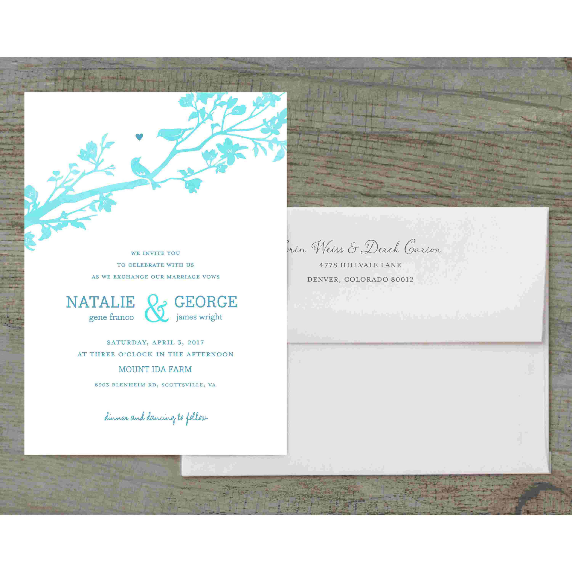 Rustic Woodland Deluxe Wedding Invitation