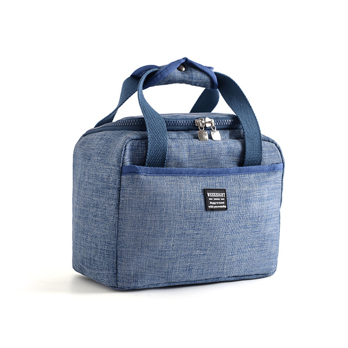 Additional Zipper Pocket), Small MAXTOP Lunch Bags for Women,Insulated Thermal Lunch Tote Bag,Lunch Box with Front Pocket for Office Work Picnic Shopping Blue