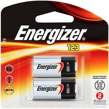 Energizer 123 Lithium Batteries  2 Pack