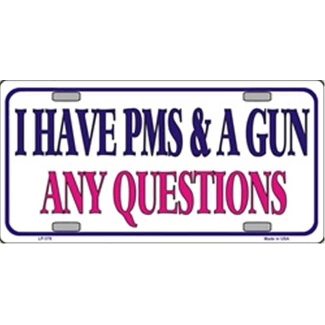 LP - 378 PMS and a Gun License Plate - 5769