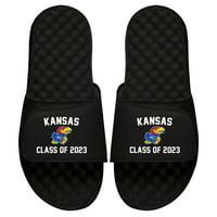 Kansas Jayhawks ISlide Class of 2023 Slide Sandals - Black
