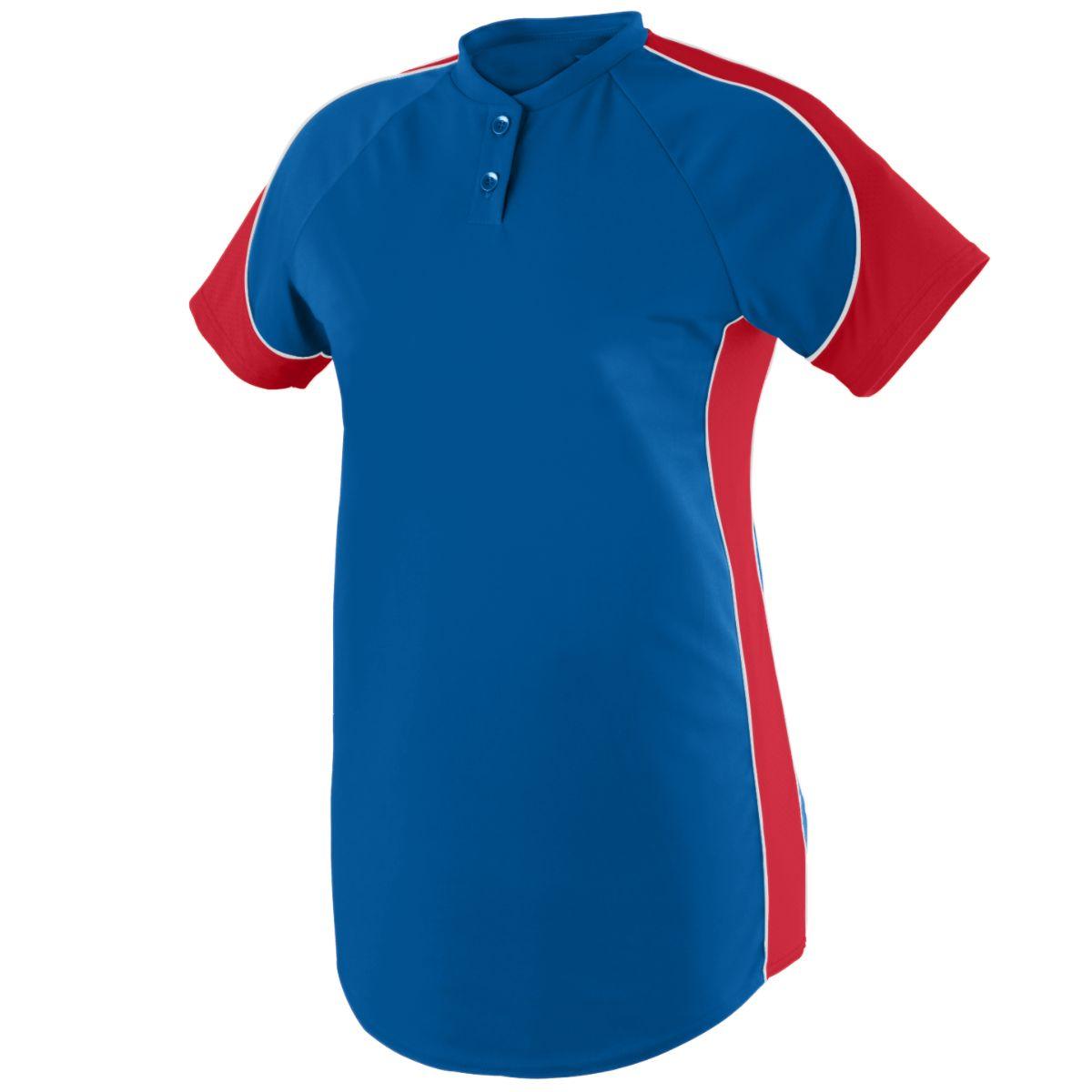Augusta Sportswear Women's Blast Softball Jersey M Royal/Red/White - image 1 de 1