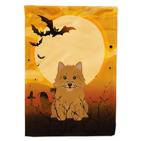 halloween norwich terrier flag canvas house size
