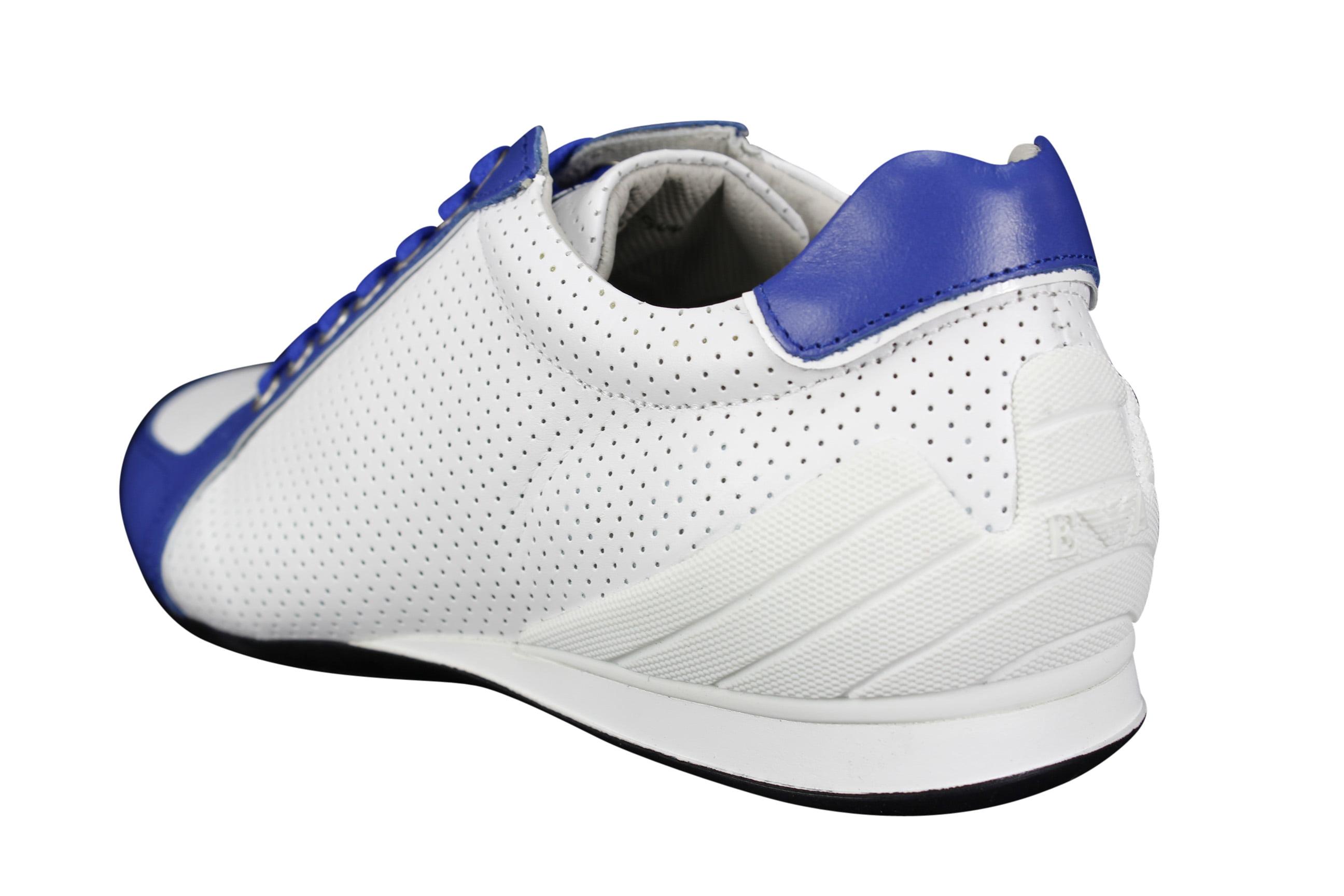 Emporio Armani Mens Sneakers Size 5 US White Calf Leather