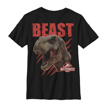 Jurassic World Boys' T. Rex Beast Dots T-Shirt ()