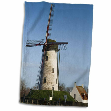 3dRose Belgium, Damme. Old windmill. - Towel, 15 by 22-inch