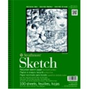 Strathmore 400 Series Binding Acid-Free Recycled Sketch Pad - 11 x 14 in. - White