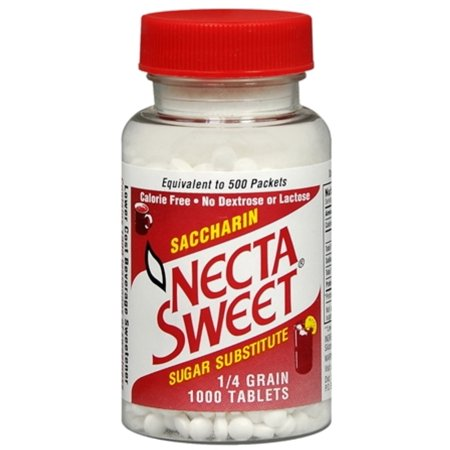3 Pack - Necta Sweet Saccharin Sugar Substitute 1/4 Grain 1000 Tablets