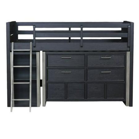 Mid Loft Bed Dresser Bookcase