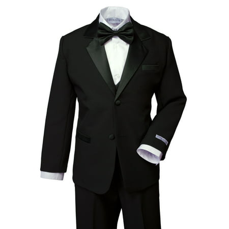 Spring Notion Boys' Classic Fit Tuxedo Set Black