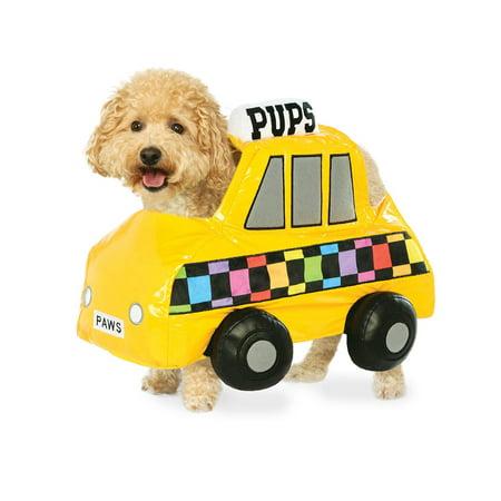 Pup Pet Dog Cat Yellow Taxi Cab Halloween Costume-S](Lester Dog Halloween)