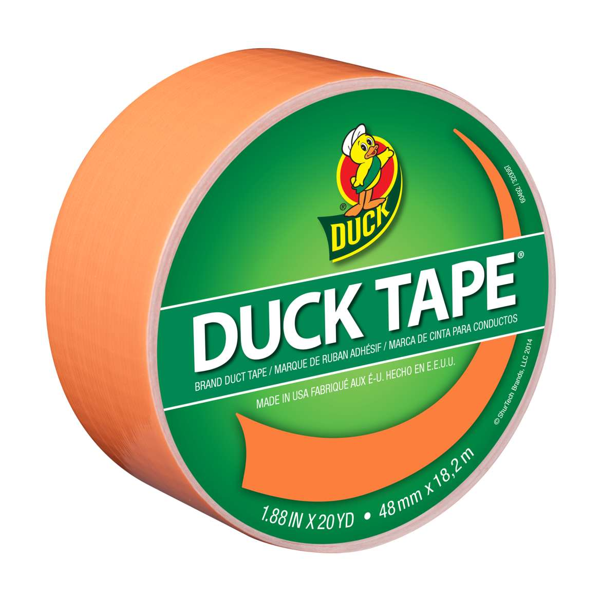Color Duck Tape Brand Duct Tape - Orange, 1.88 in. x 20 yd.