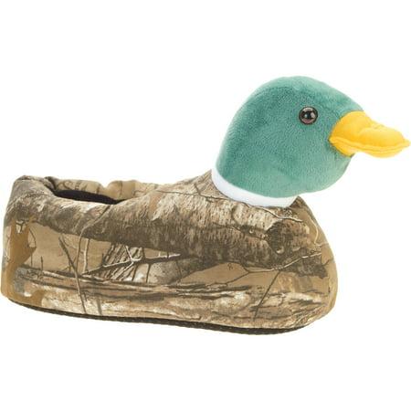 Image of Men's Real Tree Mallard Duck Slipper