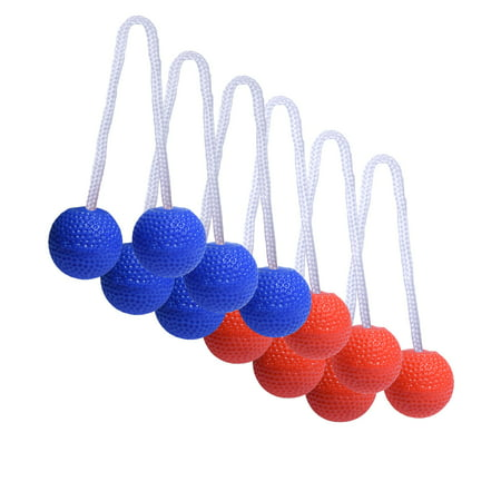 GoSports Ladder Toss Bolo Replacement Set with Rubber Golf Balls, - Ladder Ball Dimensions