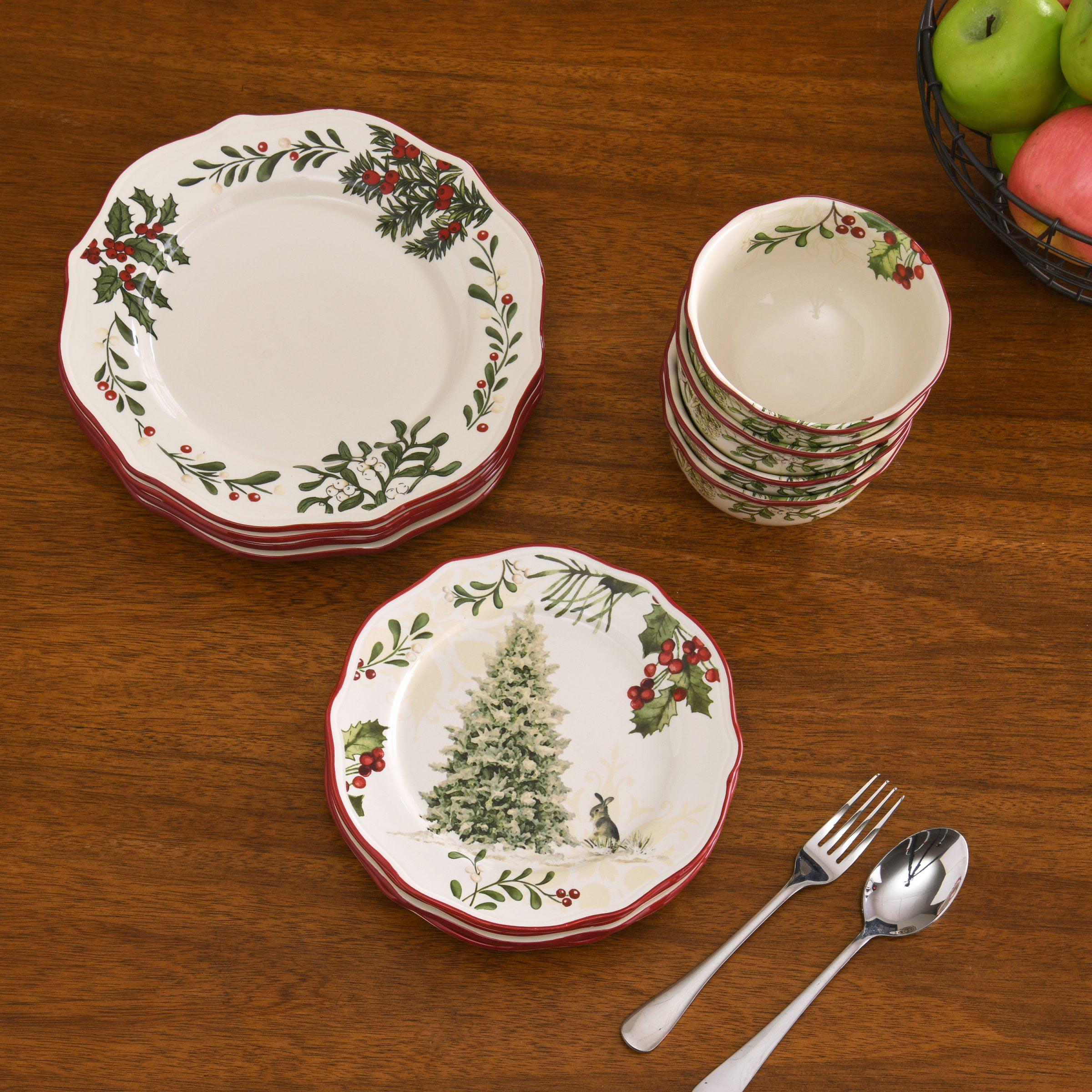 Better Homes & Garden Heritage 16 Piece Dinnerware Set - Walmart.com