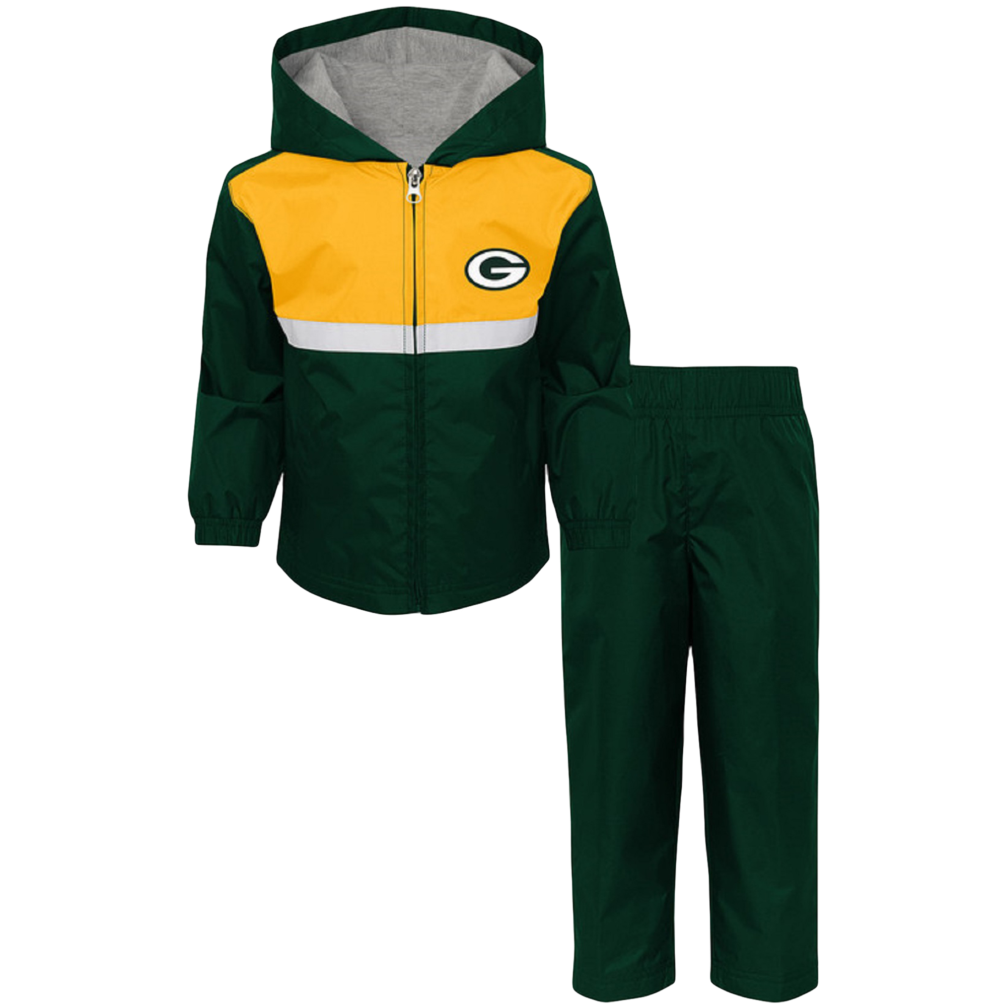 Toddler Green/Gold Green Bay Packers Full-Zip Jacket & Pants Set